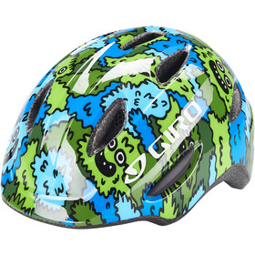 Giro Scamp Helm Kinder blue/green creature camo